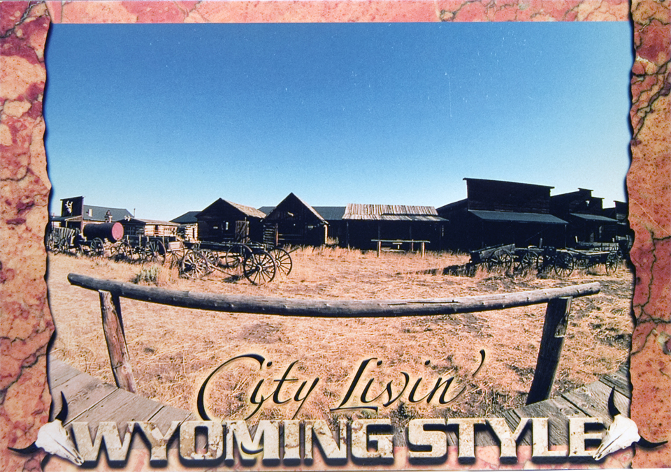 WYOMING CITY LIVING POSTCARD