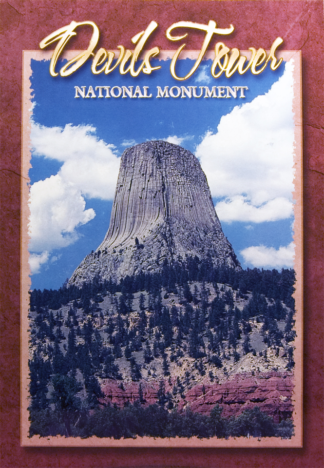 DEVILS TOWER MONOLITH POSTCARD