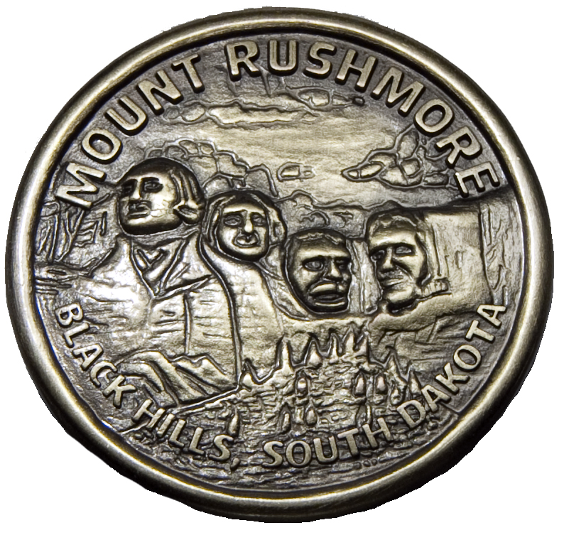 MOUNT RUSHMORE DESK MEDALLION