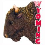 WYOMING BUFFALO POLY MAGNET