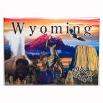 "WYOMING LINE 2.5"" X 3.5"" MAGNET"