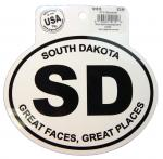 SOUTH DAKOTA BLACK AND WHITE STICKER