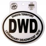 DEADWOOD BLACK AND WHITE STICKER
