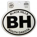 BLACK HILLS BLACK AND WHITE STICKER