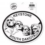 KEYSTONE BLACK AND WHITE STICKER