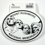 MOUNT RUSHMORE BLACK AND WHITE STICKER