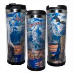 WYOMING LENTICULAR STAINLESS STEEL THERMAL MUG