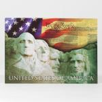 MOUNT RUSHMORE WE THE PEOPLE POSTCARD