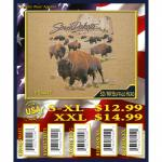 (2X) SOUTH DAKOTA / MOUNT RUSHMORE BUFFALO HERD