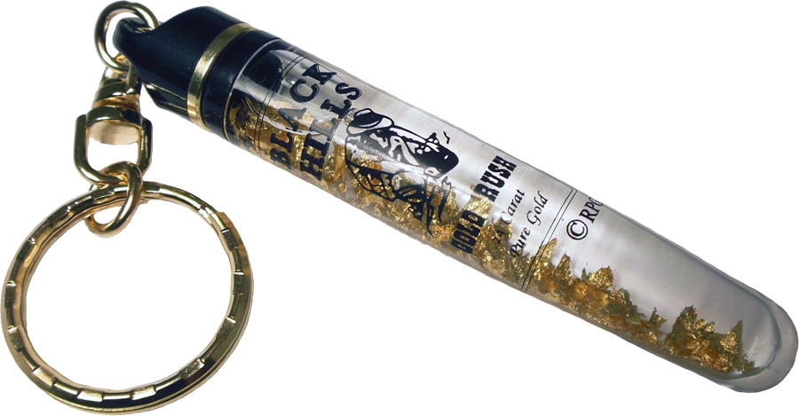 BLACK HILLS GOLD VIAL KEYCHAIN