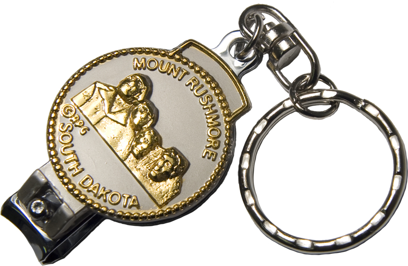MOUNT RUSHMORE NAIL CLIPPER KEYCHAIN