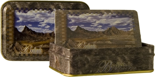BADLANDS METAL BOX PLAYING CARDS