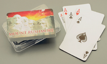 MOUNT RUSHMORE SUNSET ACRYLIC BOX PLAYING CARDS