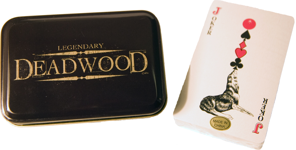 LEGENDARY DEADWOOD METAL BOX PLAYING CARDS