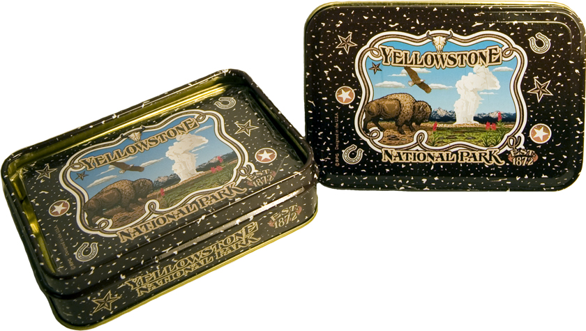YELLOWSTONE METAL BOX PLAYING CARDS